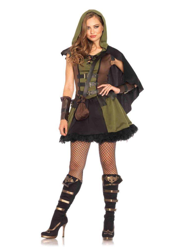 Darling Robin Hood Adult Women/'s Costume Brown Dress Fancy Dress Leg Avenue