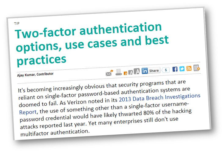 Two Factor Authentication Options Use Cases And Best Practices Use Case Best Practice Business Case