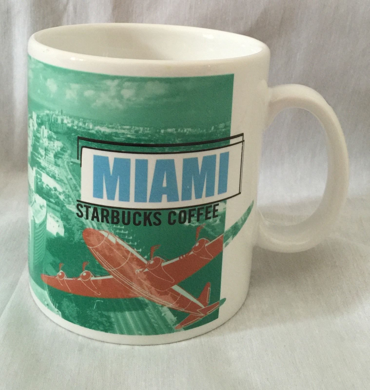 Starbucks Coffee Mug Miami Florida 1999 City Collage Series Cup South Beach | eBay