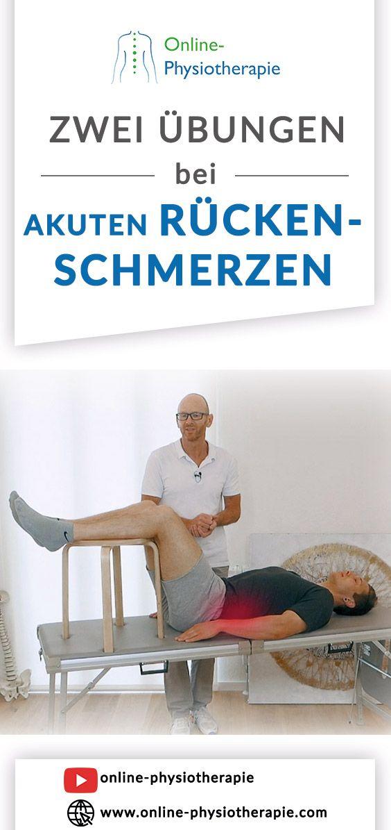 Akute Rückenschmerzen im unteren Rücken: In diesem Video..