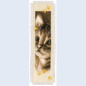 Cat and Dog: bladwijzer te borduren in kruissteek met telpatroon