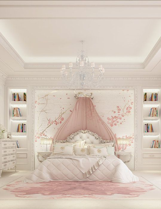 Luxury girl bedroom design ions design for Girl room ideas pinterest