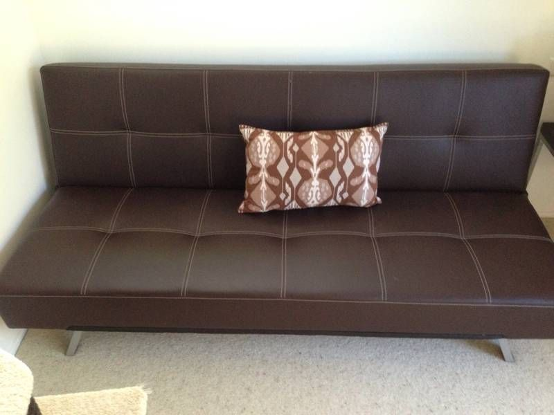 Leather Double Sofa Bed 6 Months Old Caloundra Area Image 1