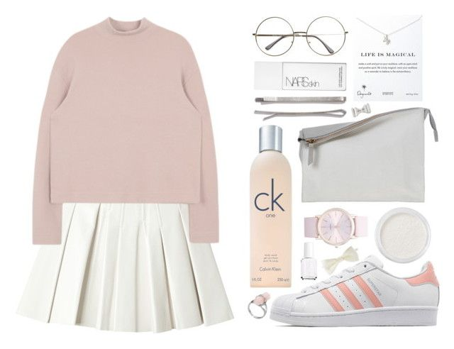 """""""Life is magical"""" by tinelemos ❤ liked on Polyvore featuring Forever 21, Bare Escentuals, Alexander Wang, adidas Originals, Calvin Klein, Madewell, Sabrina Zeng, Dogeared, BP. and Marc by Marc Jacobs"""