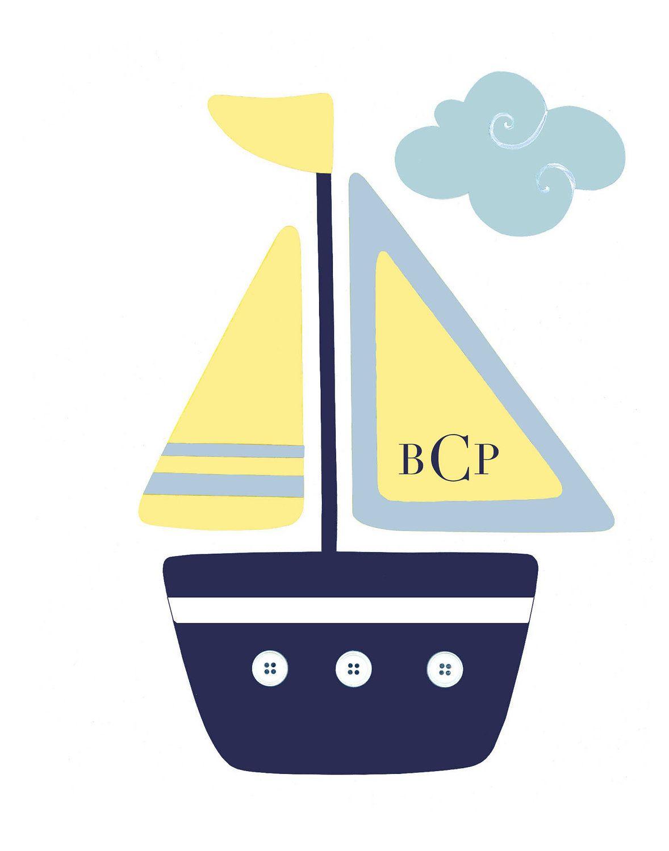 Pottery Barn Oceanside Bedding Art, Nautical Nursery Boats ...