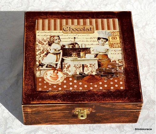 bibidekoracie / Čoko krabička-retro  skladom