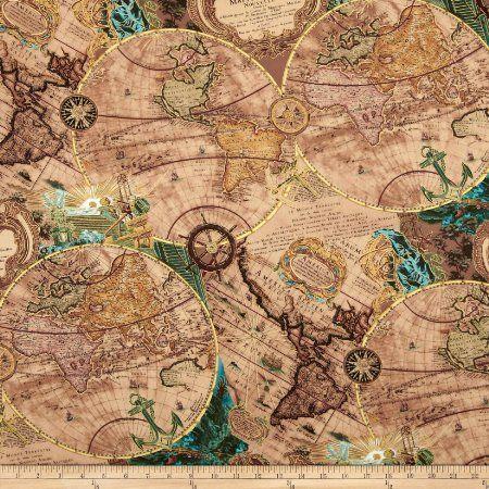 Kanvas renaissance man mapping skills parchment fabric lilith et kanvas renaissance man mapping skills parchment fabric gumiabroncs Images