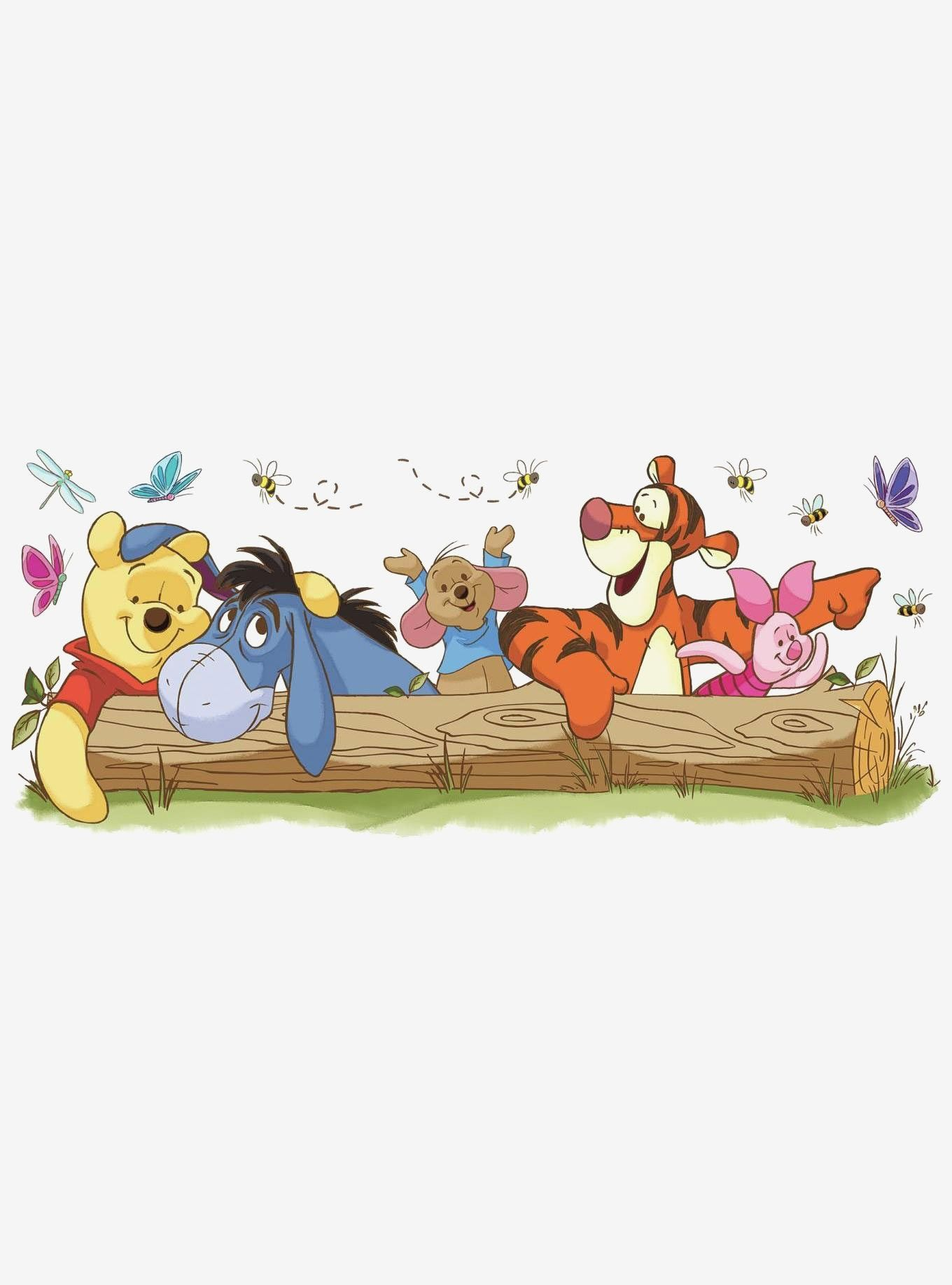 Disney Winnie The Pooh: Pooh & Friends Outdoor Fun Peel And Stick Giant Wall Decals