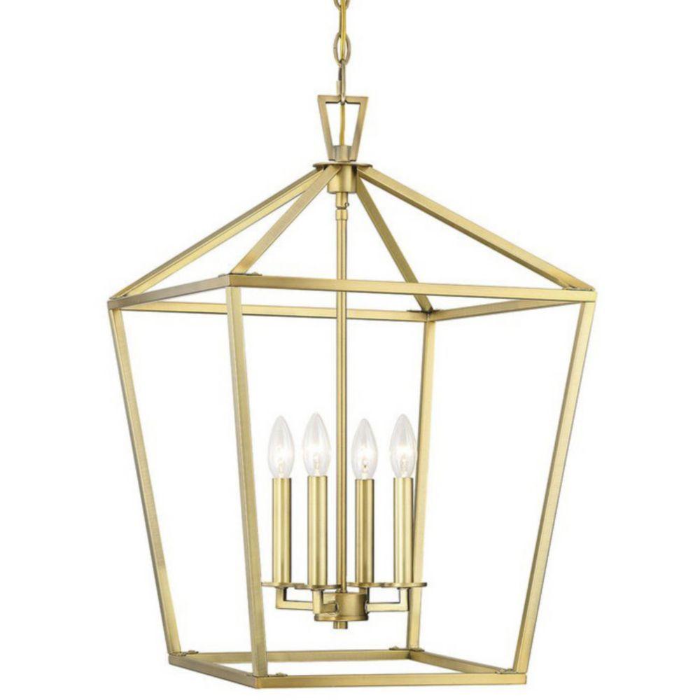 Townsend Chandelier Brass pendant light, Savoy house