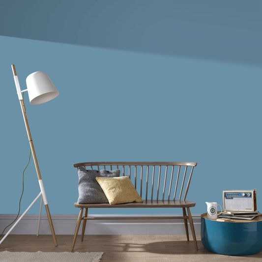 Plain Tany Blue Wallpaper by Graham & Brown