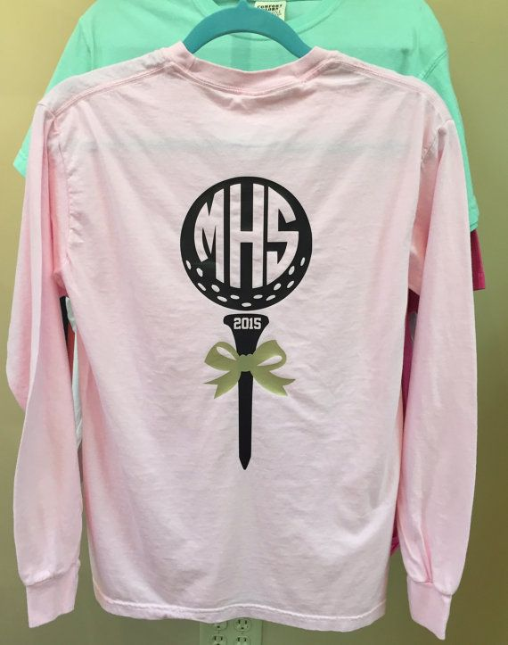 705cd389e Golf Shirt with Monogram, Monogrammed Golf T-shirt, T-shirt for ...
