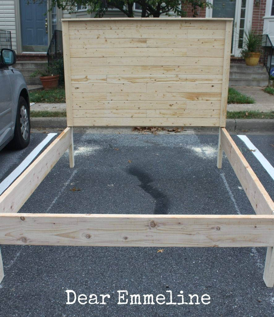 Dear Emmeline The Building Of A Bed Queen Bed Frame