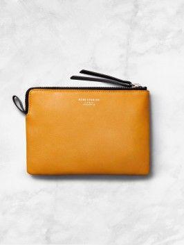 Jasper leather pocket pouch, Acne