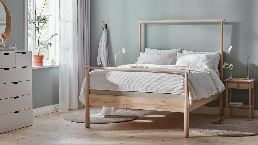 Gjora Bed Frame Birch Eidfjord Ikea Ikea Bed Frames Bed Frame Ikea Bed