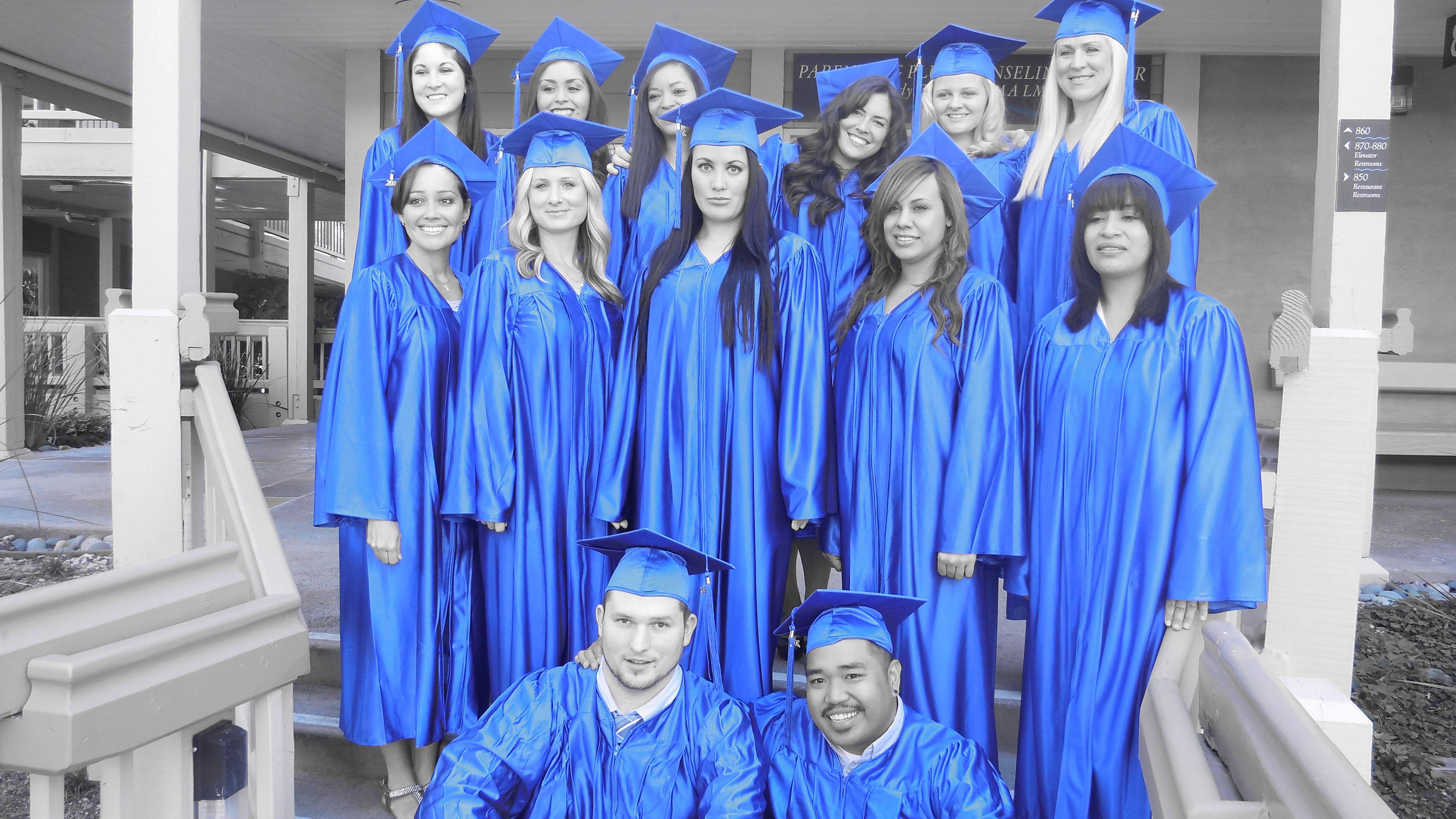 New nursing graduates from the vocational nursing program