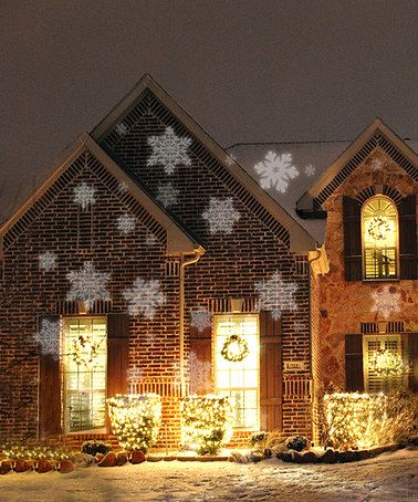 white led snowflakes light projector zulilyfinds