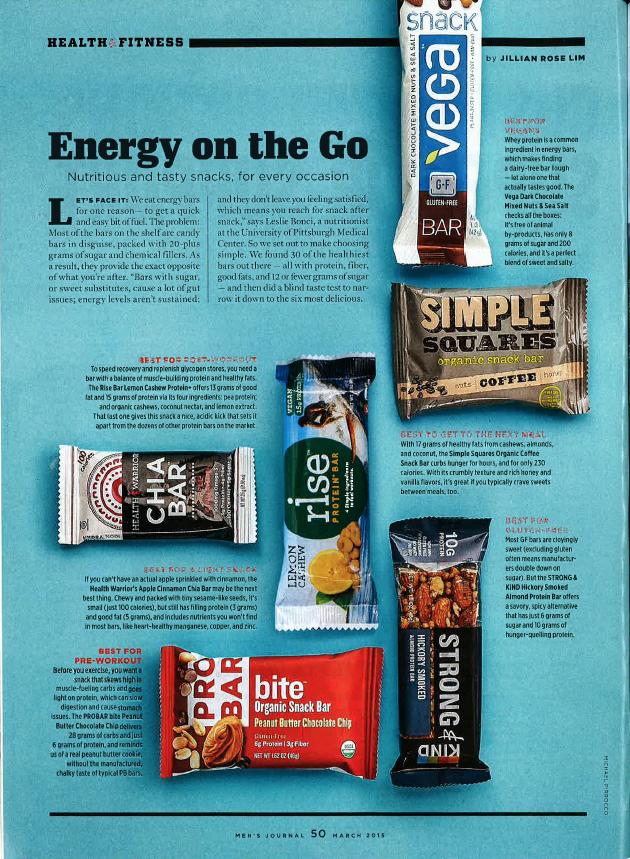 PROBAR bite in Men's Journal Mens journal, Yummy snacks