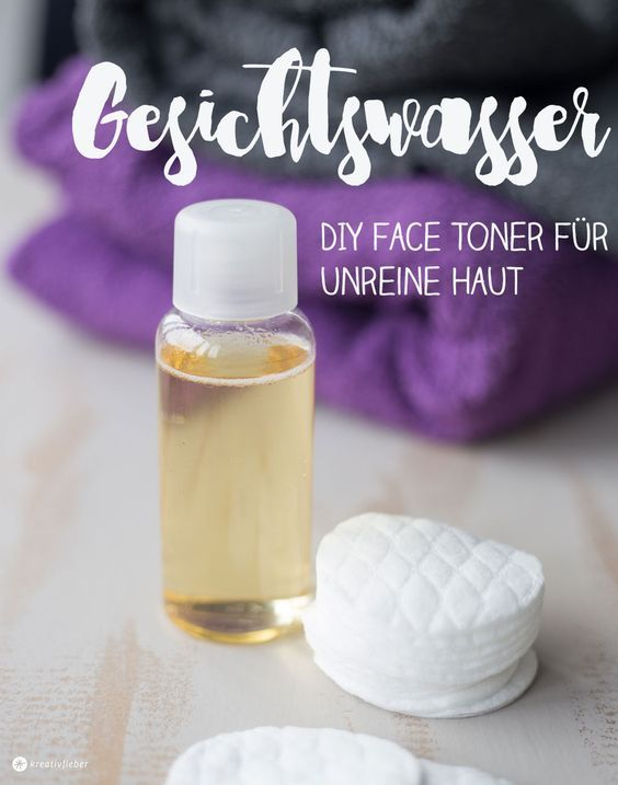 diy gesichtswasser selbermachen face toner bei unreiner haut unreine haut pinterest. Black Bedroom Furniture Sets. Home Design Ideas