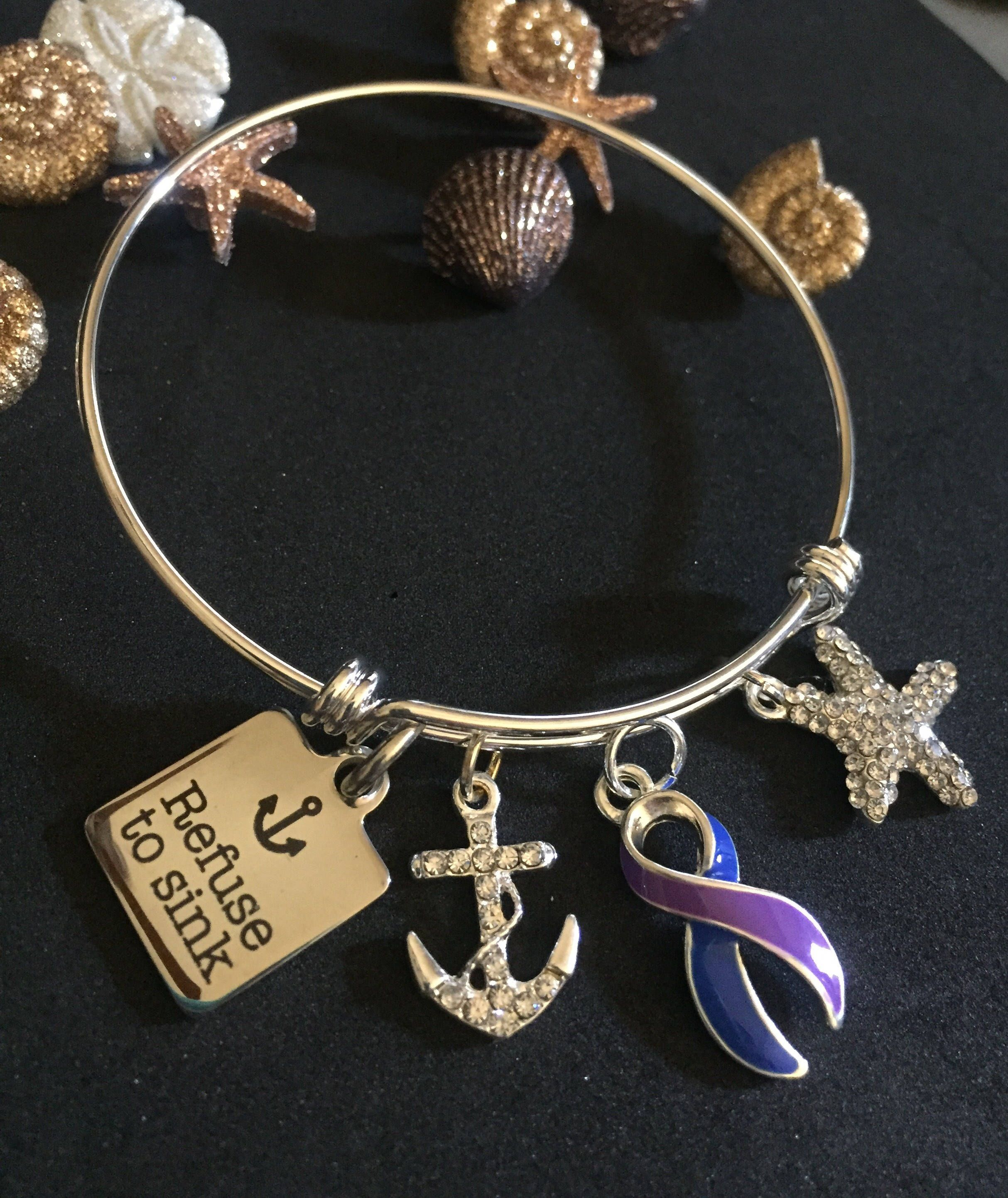 awareness fb silver bracelet feed includes cancer ribbon rosegold breast diamond products diamonds