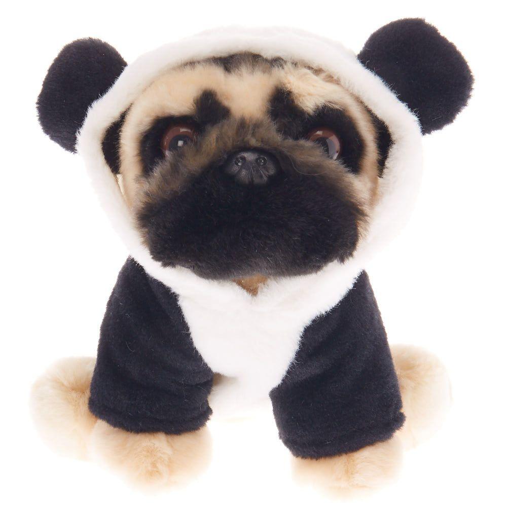 Doug The Pug Medium Panda Plush Toy Cream Doug The Pug Plush
