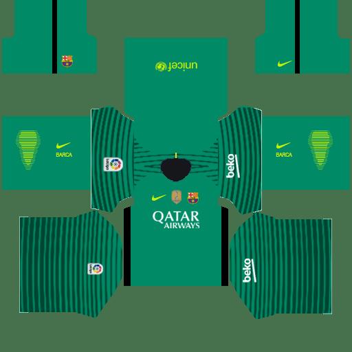 timeless design b0dfe 825bd Barcelona Goalkeeper Home Kit   atlatiko madrid ...
