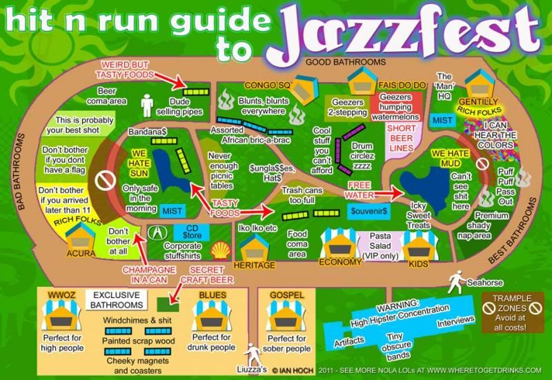 Louisiana Festival Map: Map Of New Orleans Jazz Fest At Usa Maps