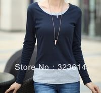 Women clothes large size of cultivate one's morality T-shirt long sleeve, free delivery