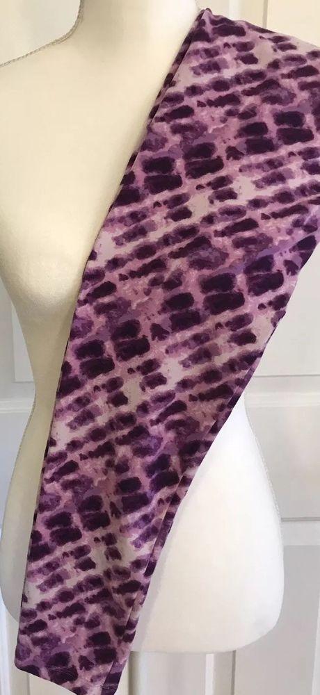 3c6edf01ff6d4 LulaRoe Leggings OS Purple White Tie Dye Unicorn One Size LLR Yoga Waist  EUC #LuLaRoe #Footless #Casual