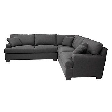 Tate Sectional Charcoal Sectionals Living Room