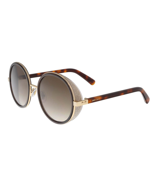 5a4aa333c6434 JIMMY CHOO JMC ANDIE S 0J7G ROSE GOLD ROUND SUNGLASSES .  jimmychoo   sunglasses