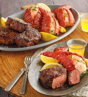 Steak and Lobster Feast (With images) | Steak and lobster ...