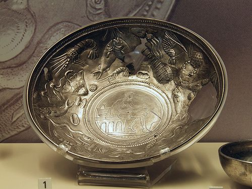 Ancient Roman Silverware The Dish Patently To Be Used To