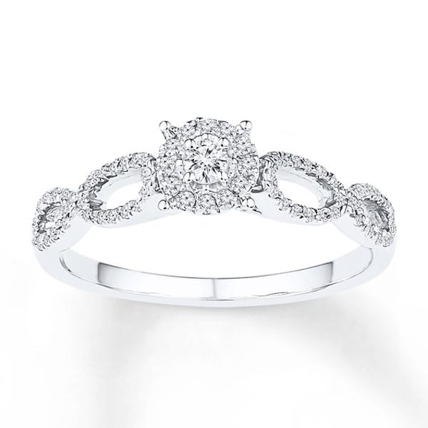 Diamond Promise Ring 1 5 Carat Tw 10k White Gold Diamond Promise Diamond Promise Rings Fashion Rings