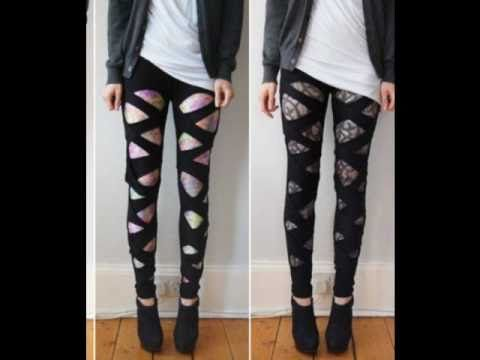 Simple to make bandage leggings. No Copyright Infrigment Intended Song: Last friday night Artist: Katy Perry Edit: sorry for all those who had trouble with this tutorial, I've stated before that i dont ha...