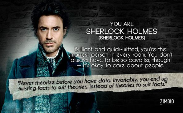 Im Sherlock Holmes! Which Robert Downey Jr. character are you?