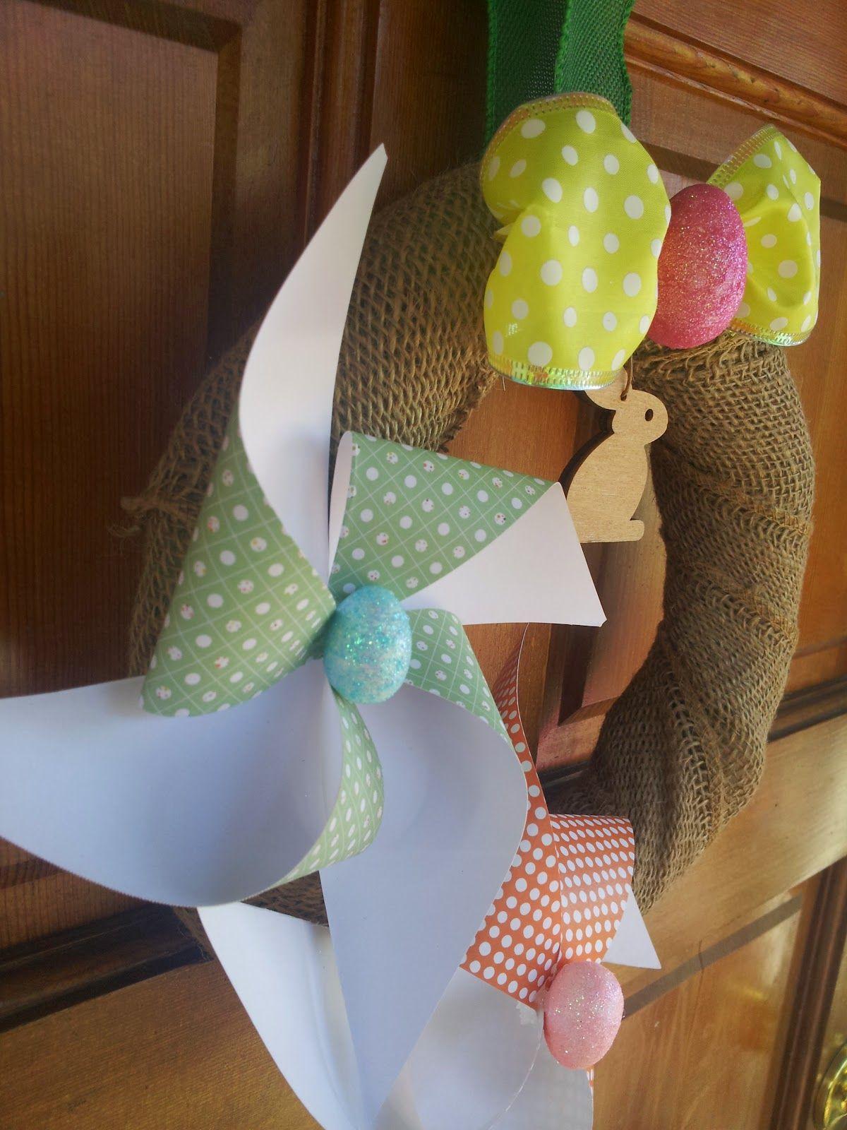 Easter wreath paper crafts diy dollar store crafts crafts