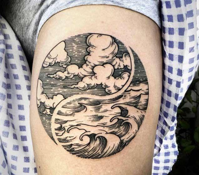 Cool Yin Yang Tattoo by Phil Tworavens tatuajes | Spanish tatuajes |tatuajes para mujeres | tatuajes para hombres | diseños de tatuajes http://amzn.to/28PQlav