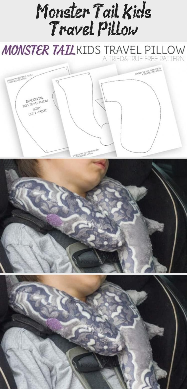 Monster Tail Kid's Travel Pillow