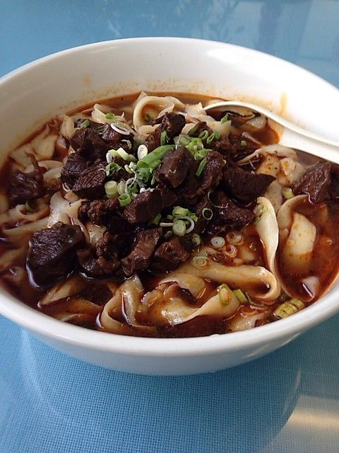 Spicy Beef With Homemade Knife Shaved Noodles Spicy Beef Beef Spicy