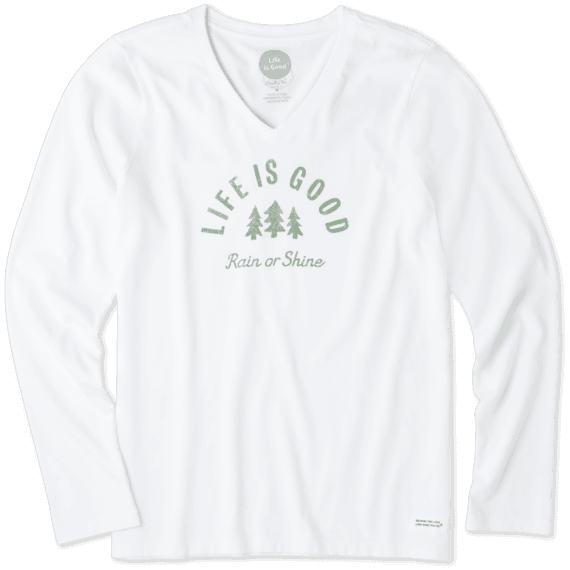 0de0ba22e1a Shop Women s Rain Or Shine Long Sleeve Crusher Vee s at the official Life  is Good® store. Get free shipping on orders over  49.