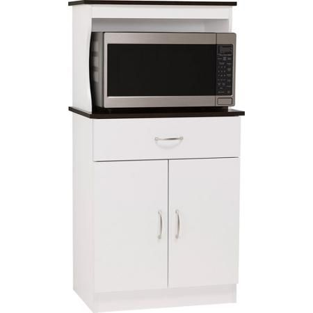 Ameriwood Microwave Cart White Espresso