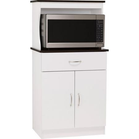 Ameriwood Microwave Cart White Espresso