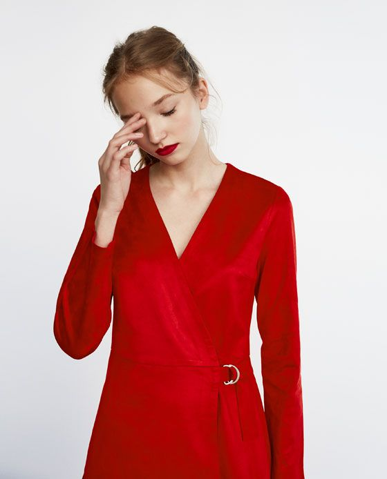fd59c246be52 Image 2 of FAUX SUEDE JUMPSUIT DRESS from Zara
