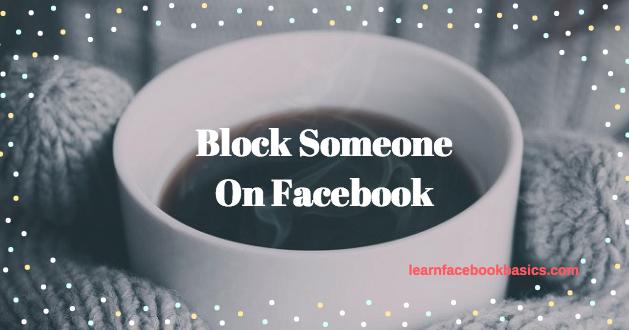 Block someone on Facebook Messenger Blocking people