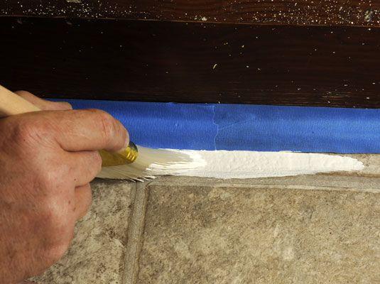 How To Paint Vinyl Floors Painted Vinyl Floors Vinyl Flooring Vinyl Flooring Bathroom