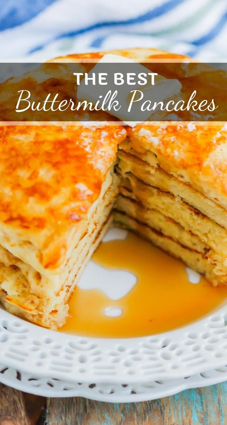 These Buttermilk Pancakes are thick, fluffy, and ready in
