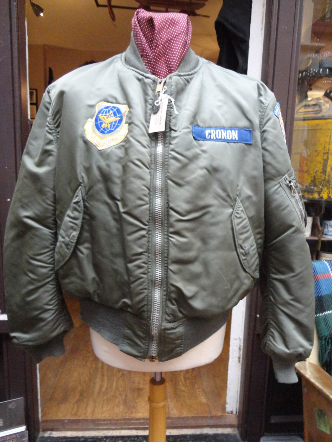 Vintage 1970s 1972 USAF Air Force Type MA-1 MA1 Alpha Industries ...