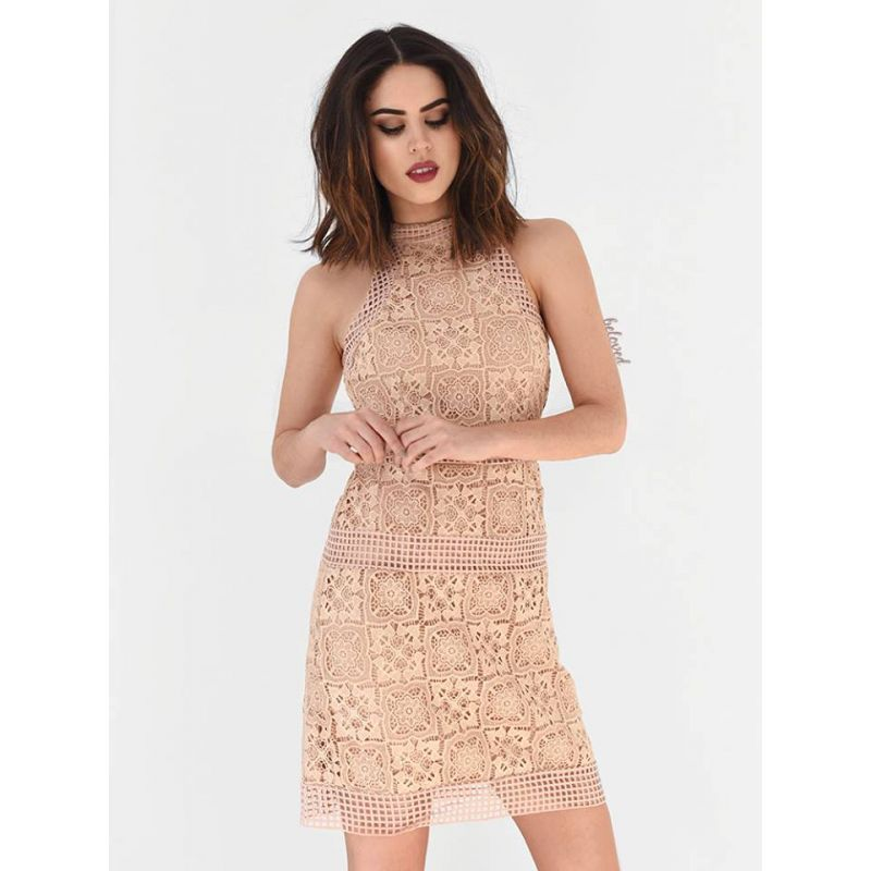 MEREDITH NUDE LACE DRESS  a6aa1515567