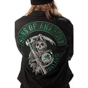Sons Of Anarchy Brand New Sons Of Anarchy Green Ireland Mechanic Jacket Anaca Motard