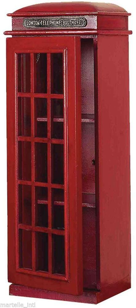 London Phone Booth CD DVD Cabinet Holder Shelf Red England Free ...